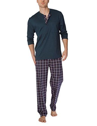 Calida Mens Patrick Cotton Knit Pajamas Set 41666, Various Styles (X-Large, 116) (Pajamas Calida Cotton)