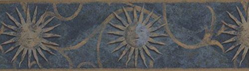 Dark Blue Sun Sign Wallpaper Border30138 ZA