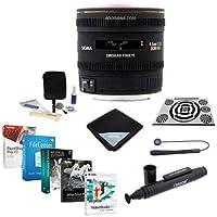 Sigma 4.5mm f/2.8 EX DC HSM Circular Fisheye AF Lens for Pentax, USA - Bundle with LensAlign MkII Focus Calibration System, Lens Wrap, Cleaning Kit, Lenscap Leash II, LensPen Cleaner, Software Package
