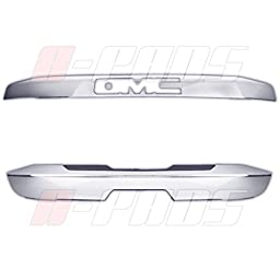 A-PADS 2PC Rear Hatch Liftgate Handles Chrome Covers Combo For GMC YUKON 2015 2016 - 1PC Upper WITH Logo + 1PC Lower