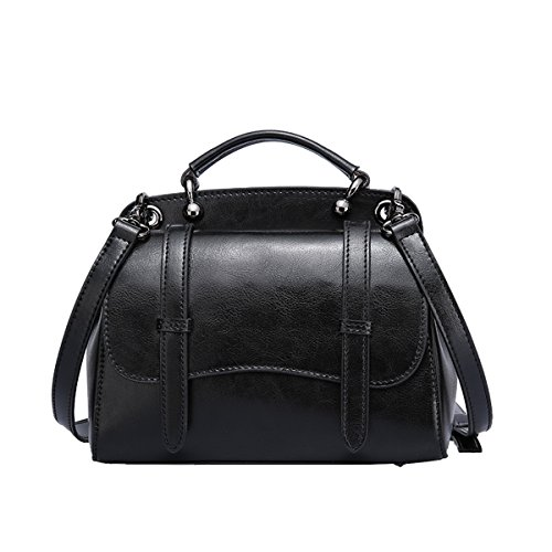 Black Q0861 Dissa Leather Women Casual Bag Fashion Handbag Shoulder 8BPgxqBw