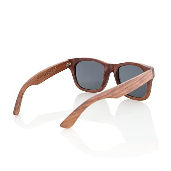 Walnut Wood Wooden Polarized Sunglasses Natural Floating Light Frames W/Pouch 3 HANDCRAFTED WOODEN SUNGLASSES- Each pair of sunglasses is unique and is made from sustainable walnut wood. These sunglasses are lightweight and float in the water POLARIZED LENSES - Our polarized lenses provides crystal clear vision and anti-glare with UV400 protection FREE MICROFIBER POUCH- Each pair of sunglasses come with one pouch to store and protect them.