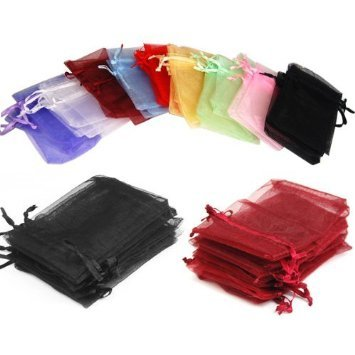 Click Down 108pcs Drawstring Organza Jewelry Pouch Bags 7*9cm