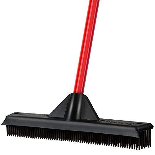 Rubber Broom & Squeegee 33CM – Design, Natural Rubber Bristles. For Pet &...