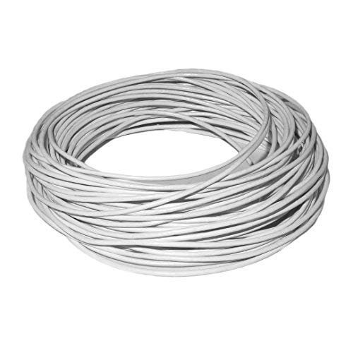 cords craft 1.5mm Genuine Round Leather Cord Leather String for Jewelry Making Bracelet Necklace Beading, 10 Meters / 10.93 Yards (White)