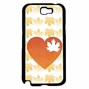 Zheng caseHeart Leaf With Fall Autumn Leaves Background TPU RUBBER SILICONE Phone Case Back Cover Samsung Galaxy Note II 2 N7100