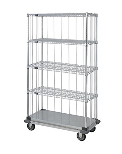 (Quantum 3 Sided Dolly Base Wire Shelf Cart 74