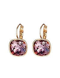 Luxury Earrings Christmas Gifts Crystals from Swarovski Colorful Charm Drop Earrings