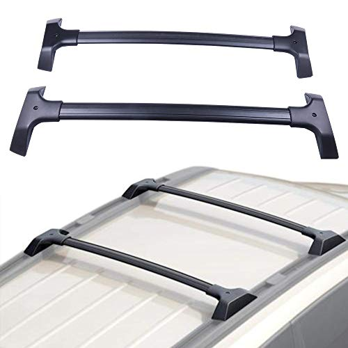 ECCPP Roof Rack Cross Bar Roof Rack Cross Bars Luggage Cargo Carrier Rails Fit for 2009-2017 Chevrolet Traverse Sport Utility 3.6L,Aluminum ()