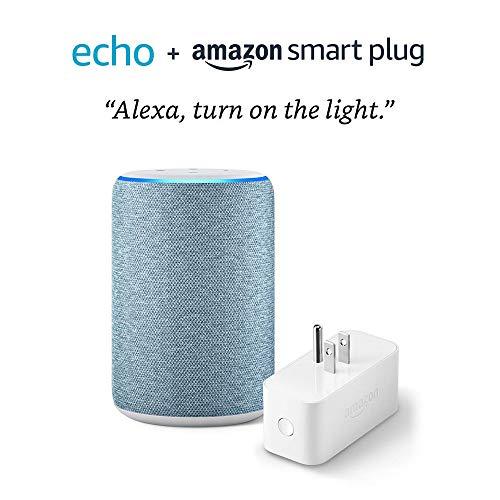 All-new Echo (3rd Gen) bundle with Amazon Smart Plug – Twilight Blue