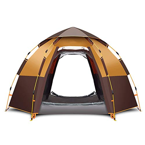 IDWO Camping Tent Hexagon Pop Up Tent 5-8 Person Automatic Waterproof Hydraulic Ultralight Backpacking Tent