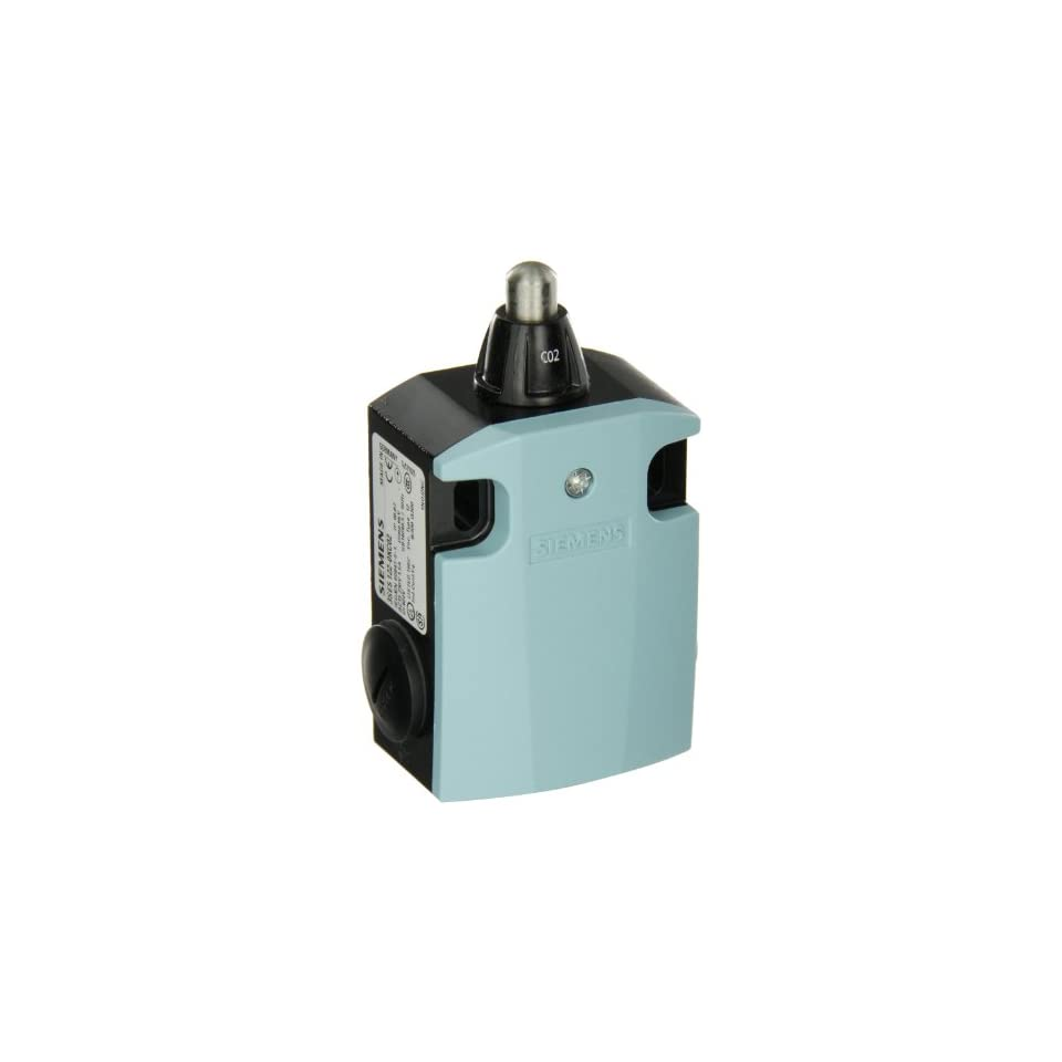 Siemens 3SE5 122 0KC02 International Limit Switch Complete Unit, Rounded Plunger, 56mm Metal Enclosure, High Grade Steel Plunger, 3mm Overtravel, Slow Action Contacts, 1 NO + 2 NC Contacts