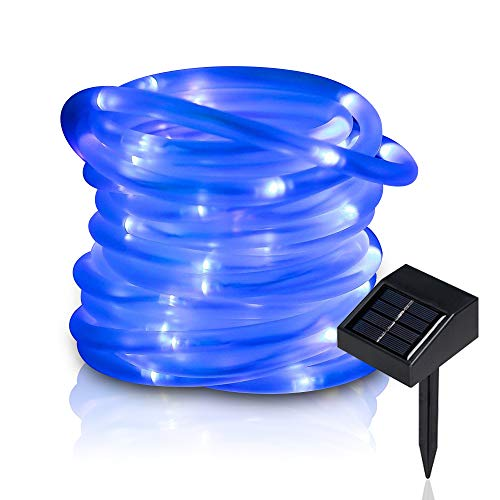 Blue Solar Powered Christmas Lights in US - 8