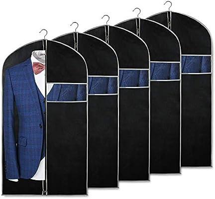 Syeeiex Bolsas de traje transpirables negras para almacenamiento y ...