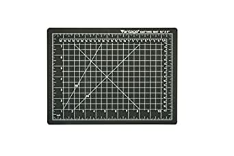 "Dahle10670 Vantage Self-Healing Cutting Mat,  9"" x 12"",  Black, 5 layer PVC Construction, 1/2"" Grid Lines, Self Healing for Maximum Durability, Perfect for Cropping Photos, Cutting, Sewing, and Crafts"