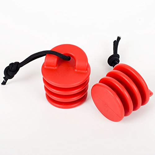 Ocean Kayak Scupper Stoppers - Pack of 2, (Large, Red)
