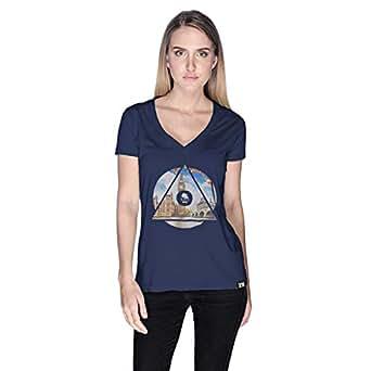 كريو London Telephone Telephone T-Shirt For Women - M, Navy Blue