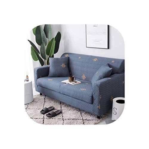 Slipcovers Sofa Flower Pattern Cove Tight wrap All-Inclusive Slip-Resistant sectional Elastic Full Sofa One/Two/Three/Four seat,12,Four seat Sofa ()