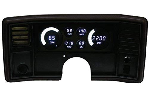 Intellitronix Corp. 1978-1988 Monte Carlo/El Camino LED Digital Dash Replacement Panel (White) (Camino Dash El)