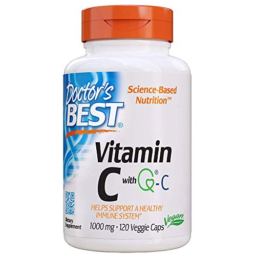 Doctor's Best Vitamin C with Quali-C 1000 mg, Non-GMO, Vegan, Gluten Free, Soy Free