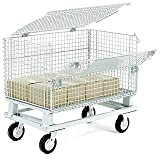 Nexel Hinged Lid For 4000 Lbs. Capacity Folding Wire Container, 32'' L x 20'' W