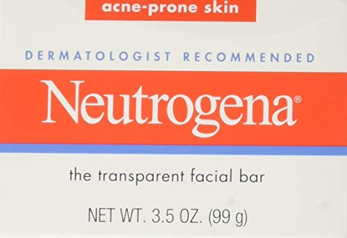 (Neutrogena Original Gentle Facial Cleansing Bar with Glycerin, Pure & Transparent Face Wash Bar Soap, Free of Harsh Detergents, Dyes & Hardeners, 3.5 oz (Pack of 3))