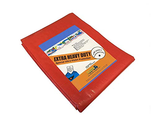 (10' x 20' Heavy Duty Premium Red Poly Tarp 12 Mil Thickness)