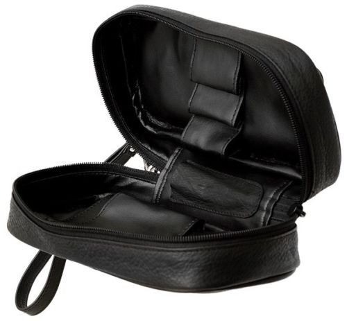 Columbus Three Pipe Travel Case Pipe Pouch - Black