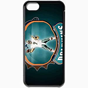 Personalized iPhone 5C Cell phone Case/Cover Skin 1339 miami dolphins Black