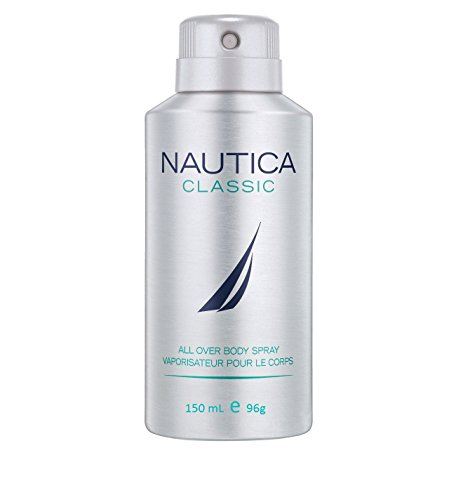 Classic Body Spray - Nautica Deodorant Body Spray for Men, Classic, 5 Ounce