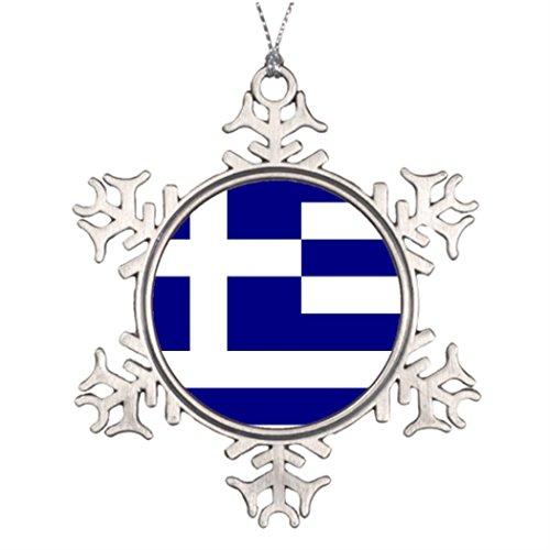Personalised Christmas Tree Decoration Greek pride Snowflake Christmas Snowflake Ornaments Greek Team (Decoration Christmas Personalised)