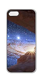 TUTU158600 Hard Plastic and Aluminum Back iphone 5 cases for women - Star Universe clouds