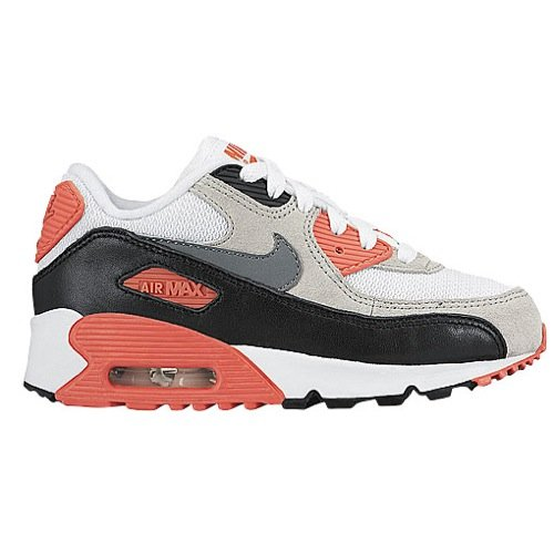 Nike Air Max 90 Infrared (Nike Air Max 90 Premium Infrared Little Kids Preschool Boys White/Neutral Grey/Black/Cool Grey/Bright Red (Size 11))