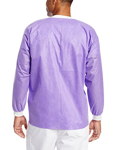 ValuMax 3630PPS Extra-Safe, Wrinkle-Free, Noble Looking Disposable SMS Hip Length Jacket, Purple, S, Pack of 10 by Valumax (Image #2)