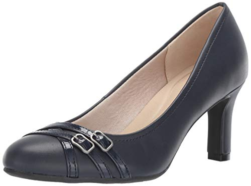 LifeStride Women's Mickie Dress Pump Navy Patent, 7 M US