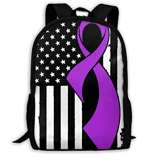 c62d30859638 TAOHJS106 Epilepsy Cancer Awareness Flag-1 Waterproof Adult Backpack  Shoulder Bag for Women and Men Premium Durable Rucksack Bookbag Best for  Hiking