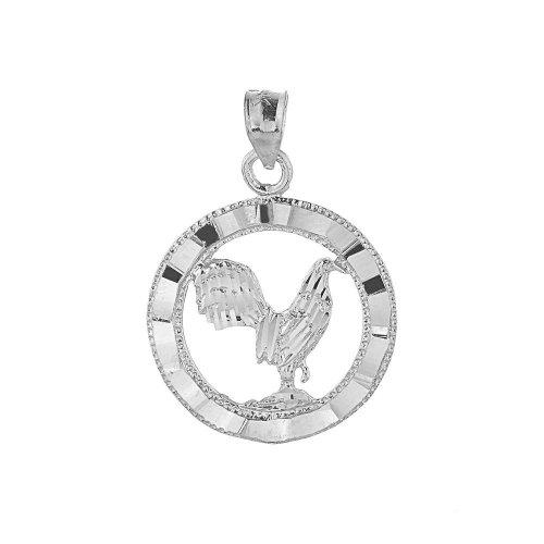 925 Sterling Silver Good Luck Rooster Bracelet ()