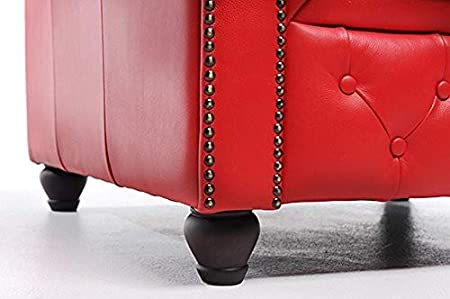 The Chesterfield Brand -Sofá Chester Brighton Rojo - 2 ...
