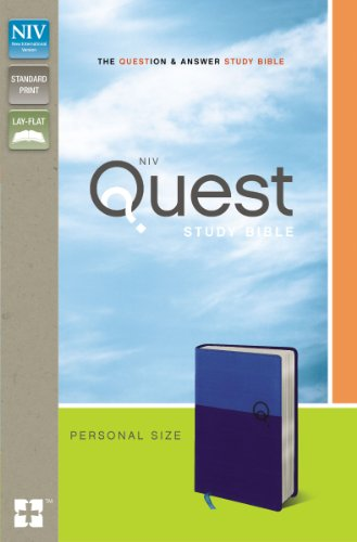 NIV, Quest Study Bible, Personal Size, Imitation Leather, Blue: The Question and Answer Bible