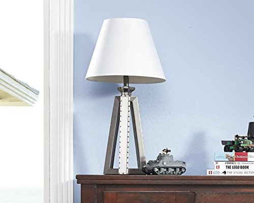 Buy ashley sidony poly table lamp in metallic gray