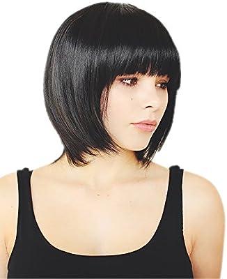 Parrucca capelli neri lisci