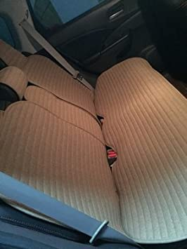Coffee Tan Flax Anti-skidding Universal Fit Seat Covers INCH EMPIRE-1509 Linen Car Seat Cushions 10 pcs Set