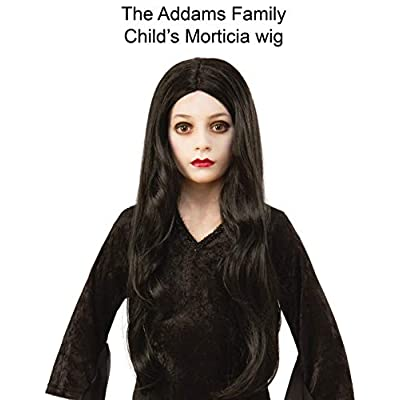 Rubie's Addams Family Animated Movie Child's Morticia Wig, One Size: Toys & Games