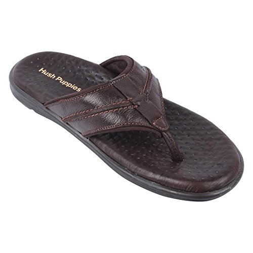 d9475fee552d Hush Puppies Men s Brown Leather Chappal with Thong -11  Buy Online ...