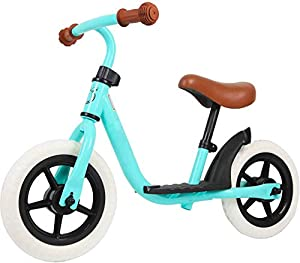 HAPTOO Sport Balance Bike Adjustable Seat Height 7 in - 12 in for Kids Ages 10 Months to 5 Years