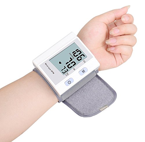 Blood Pressure Monitor – Portable Blood Pressure Cuff Wrist, Automatic Blood Pressure Machine with LED Screen Display, FDA Approved One Touch Operation Health Care Device by PLRB Health