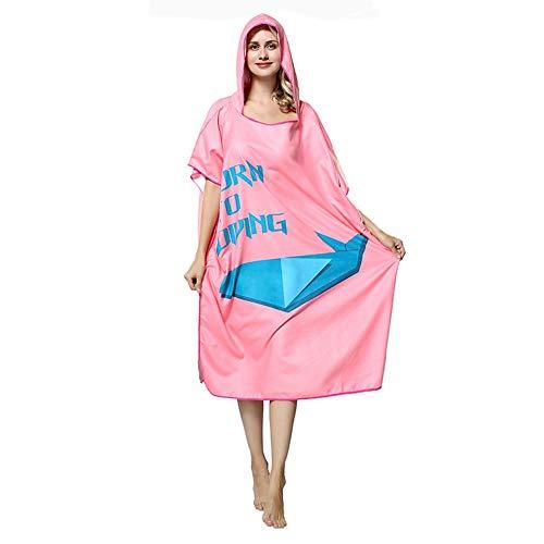 Rosado Albornoces Albornoz Unisex Rápido Rosado color Tamaño Tamaño Adulto Beach Cap Surf De Fleece Zgsjbmh Bata Baño Poncho Secado Microfibra Un xR6qpAw