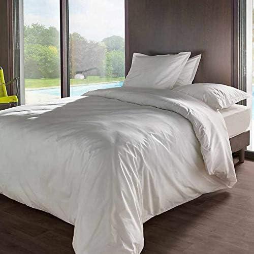 Vent Du Sud dh90manoirmn Manoir sábana Bajera Uni (algodón percal, 190 x 90 cm, algodón, Neige, 190x90 cm: Amazon.es: Hogar