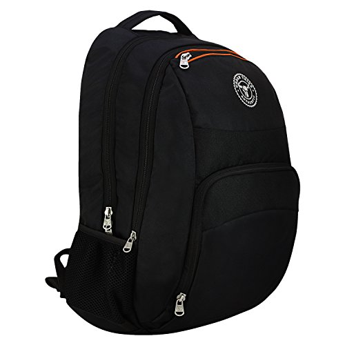 Urban Tribe Black and Orange Laptop Backpack  Beetle