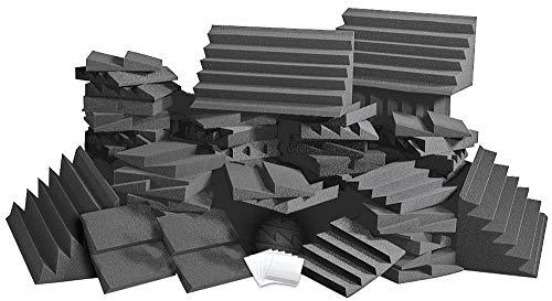 (Auralex ROOMADCHA/CHA Alpha-DST Roominator Kit:32- DST112 Panels- Charcoal; 32- DST114 Panel- Charcoal; 4-LENRD Bass Trap-Charcoal; 2 TTPRO)